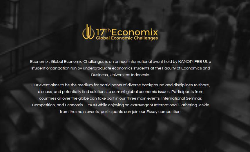 Economix : Global Economic Challenges 2019 dan Kompetisi Id Sebagai Media Partner