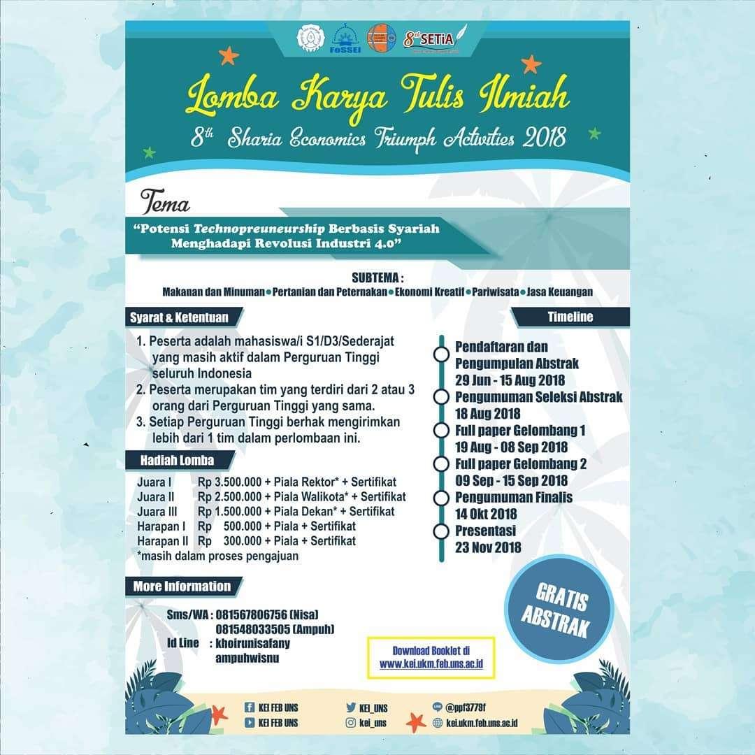 Kerjasama Kompetisi ID Sebagai Media Partner Lomba Karya Tulis Ilmiah SETiA ke-8