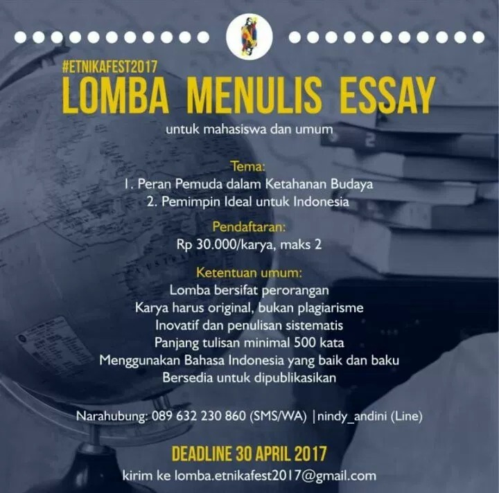 Lomba Menulis Esai ETNIKA FEST 2017