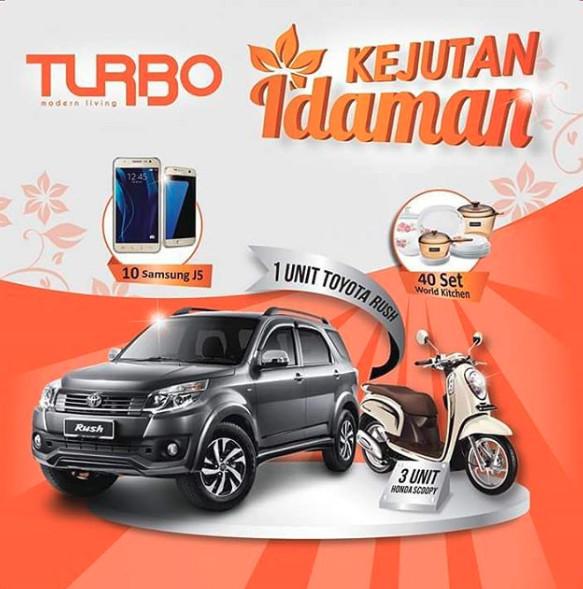 Promo Undian Turbo Kejutan Idaman Berhadiah 1 Unit Toyota Rush