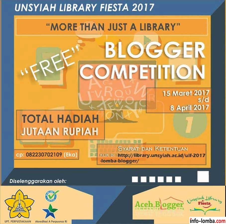 Unsyiah Library Fiesta 2017 – Lomba Blogger