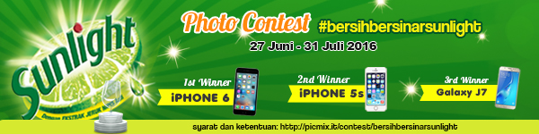 Photo Contest Bersih Bersinar Sunlight