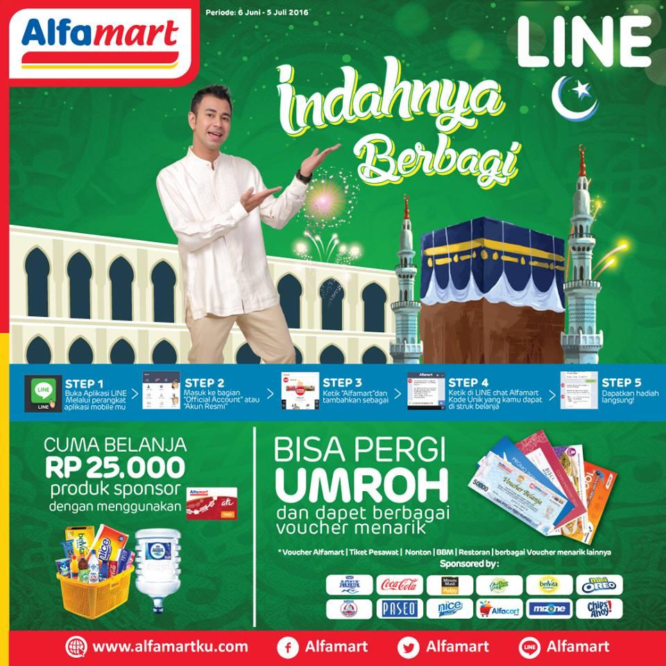Promo Indahnya Berbagai Ramadhan dari Alfamart dan Line