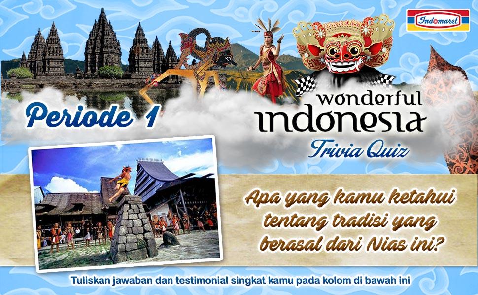 Wonderful Indonesia Trivia Quiz Periode 1