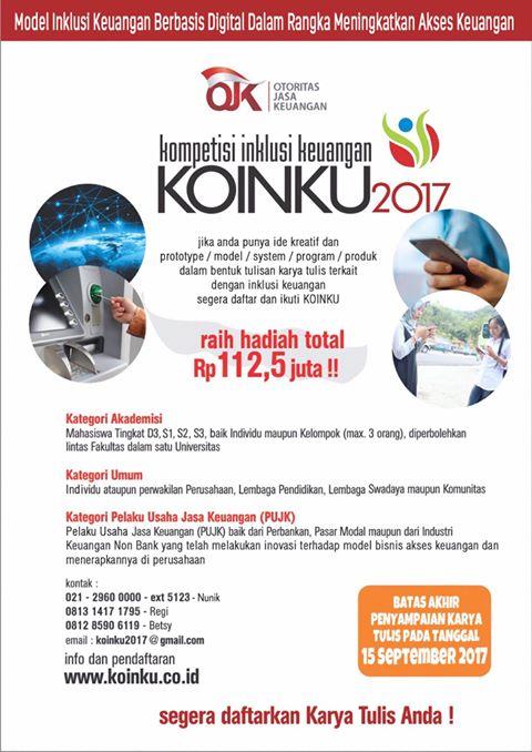 Kompetisi inklusi Keuangan KOINKU 2017