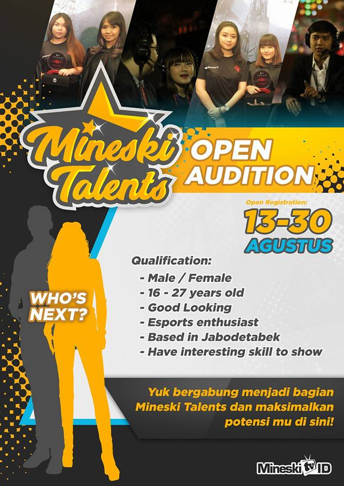 Mineski ID Talents Open Audition