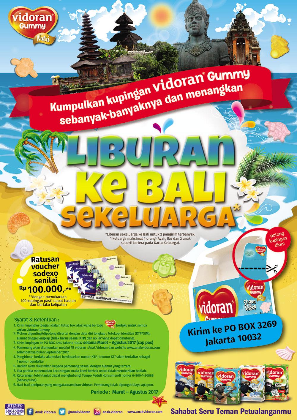 Liburan Ke Bali Sekeluarga dari Vidoran Gummy