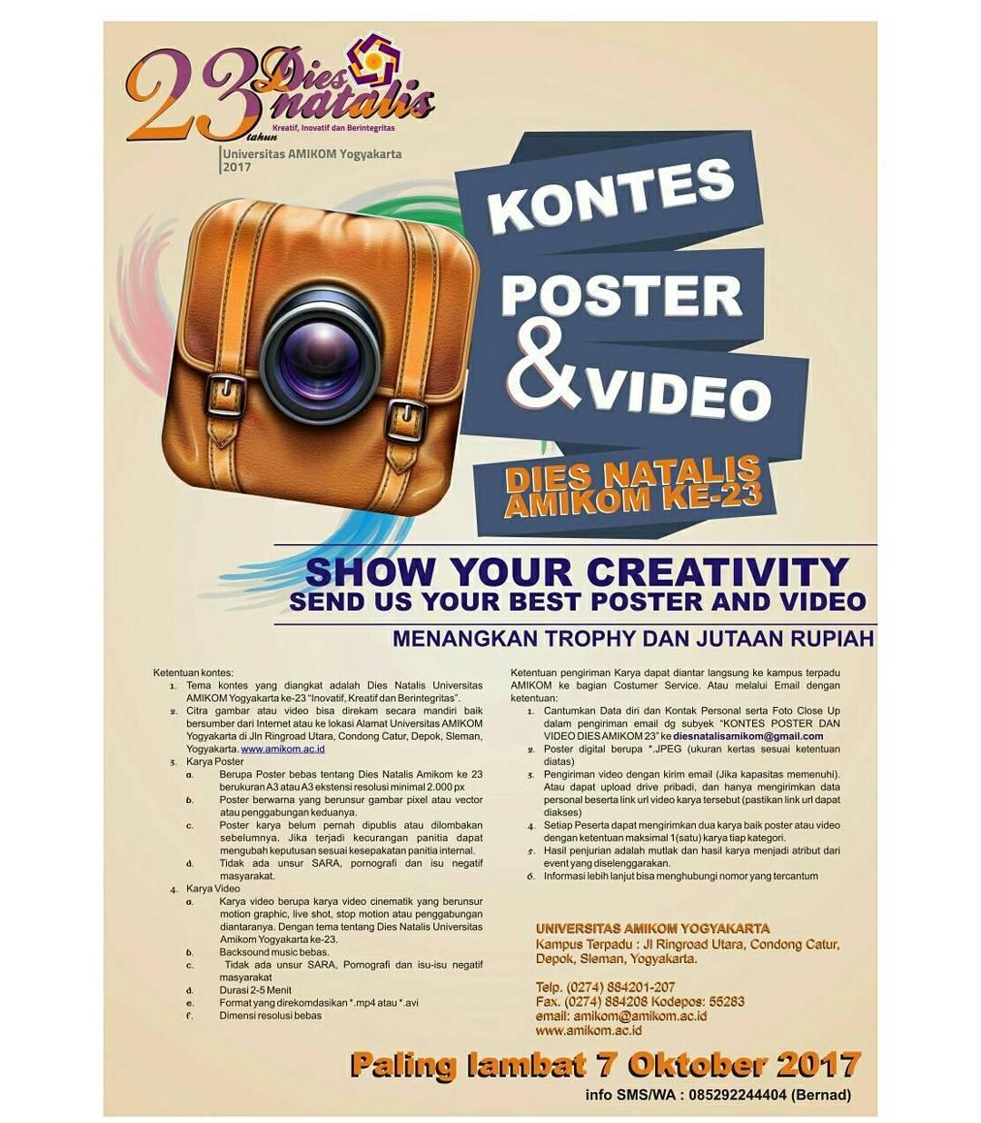 Kontes Poster dan Video Dies Natalis Amikom