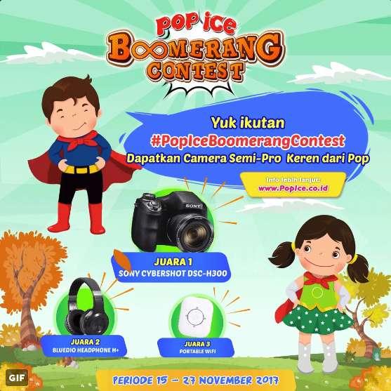 PopIce Boomerang Contest