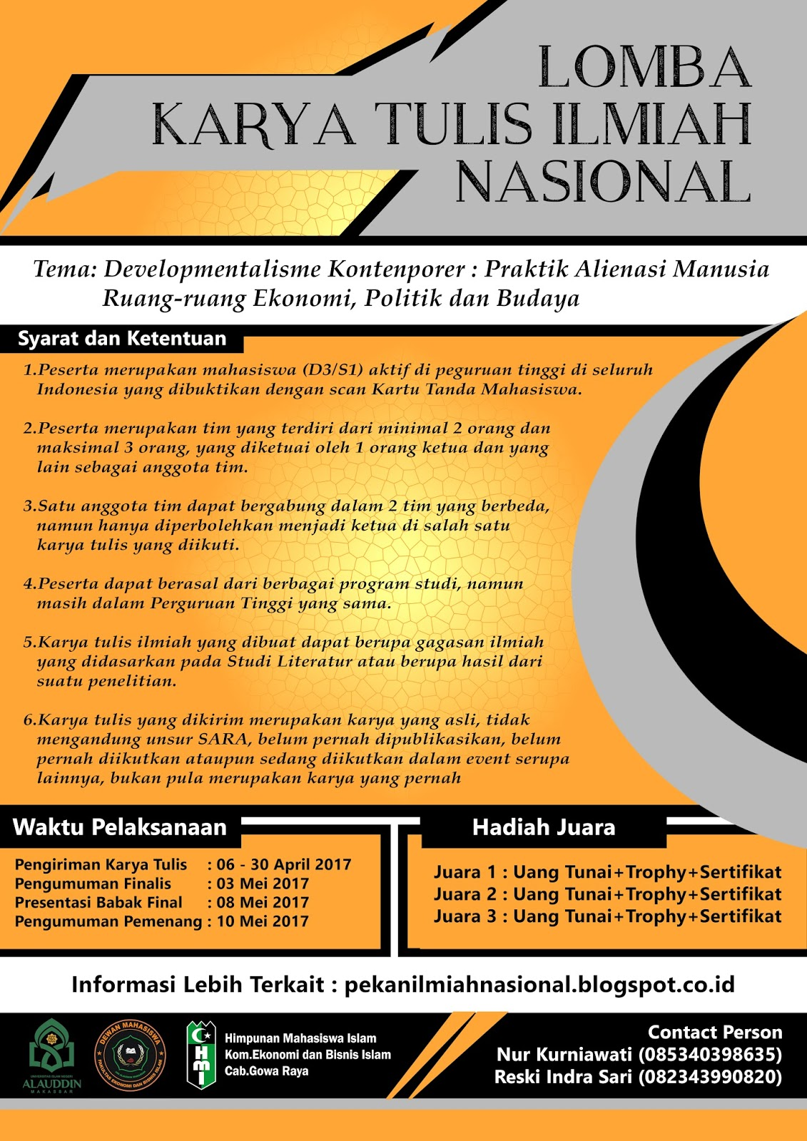 Lomba Karya Tulis di Pekan Ilmiah Nasional