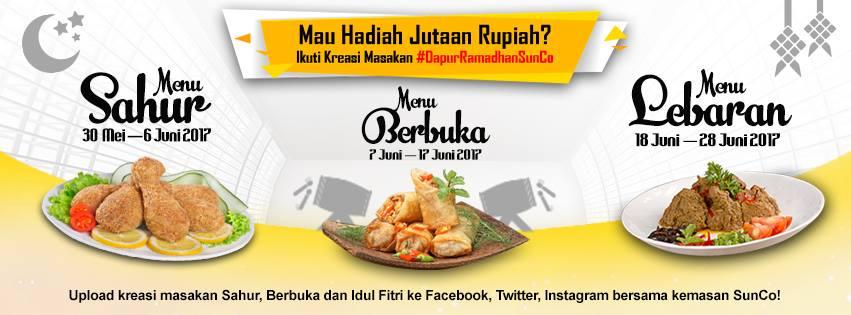 Kreasi Makanan Dapur Ramadhan SunCo Berhadiah Jutaan Rupiah