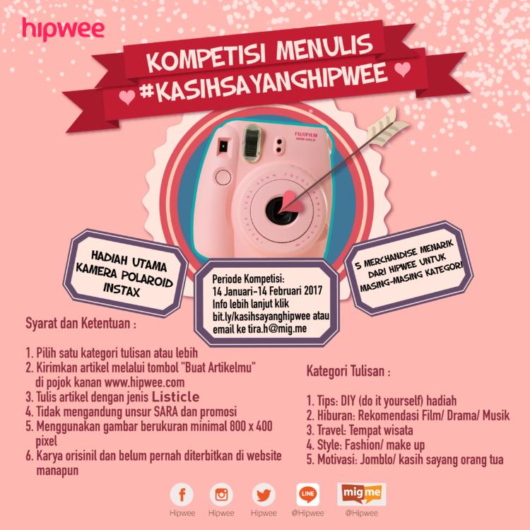 Kompetisi Menulis Kasi Sayang dari Hipwee