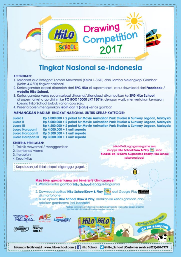 Hilo School Drawing Competition 2017 Tingkat Nasional