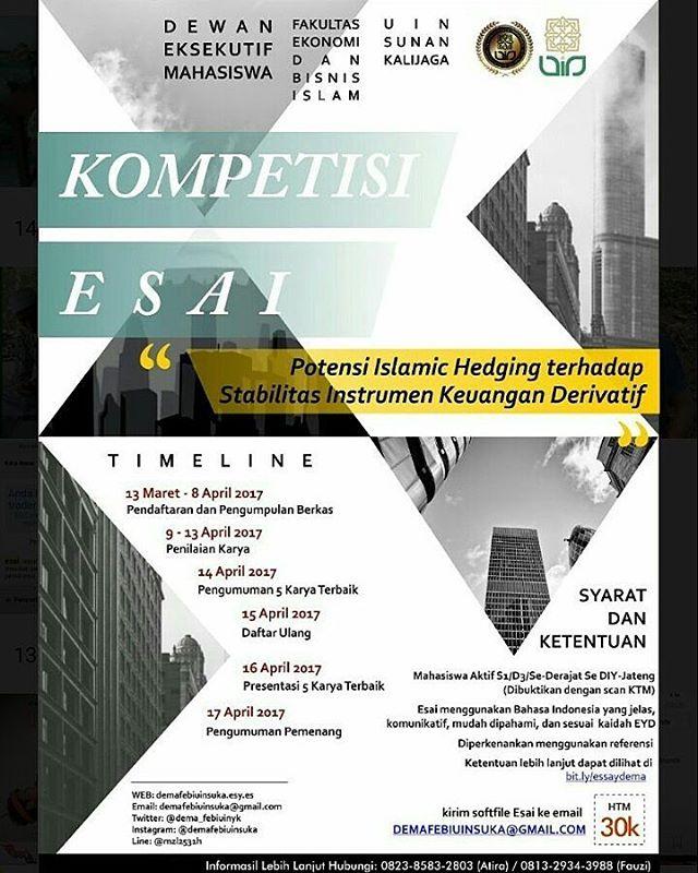 Kompetisi Esai dari Dewan Eksekuti Mahasiswa Fakultas Ekonomi dan Bisnis Islam UIN SUKA