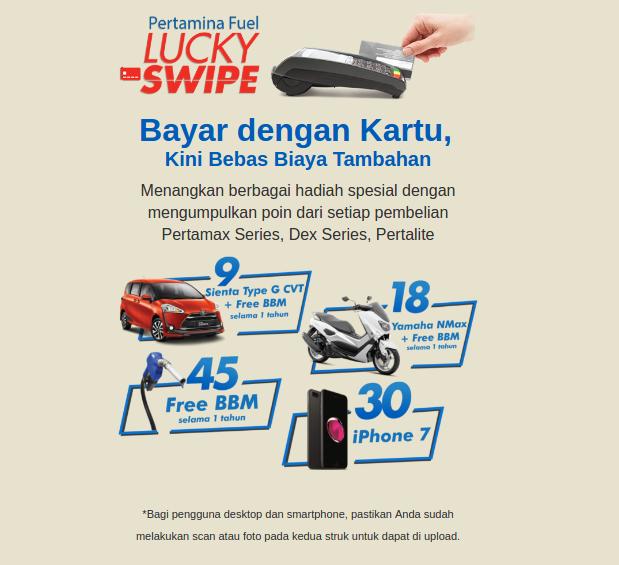 Pertamina Fuel Lucky Swipe
