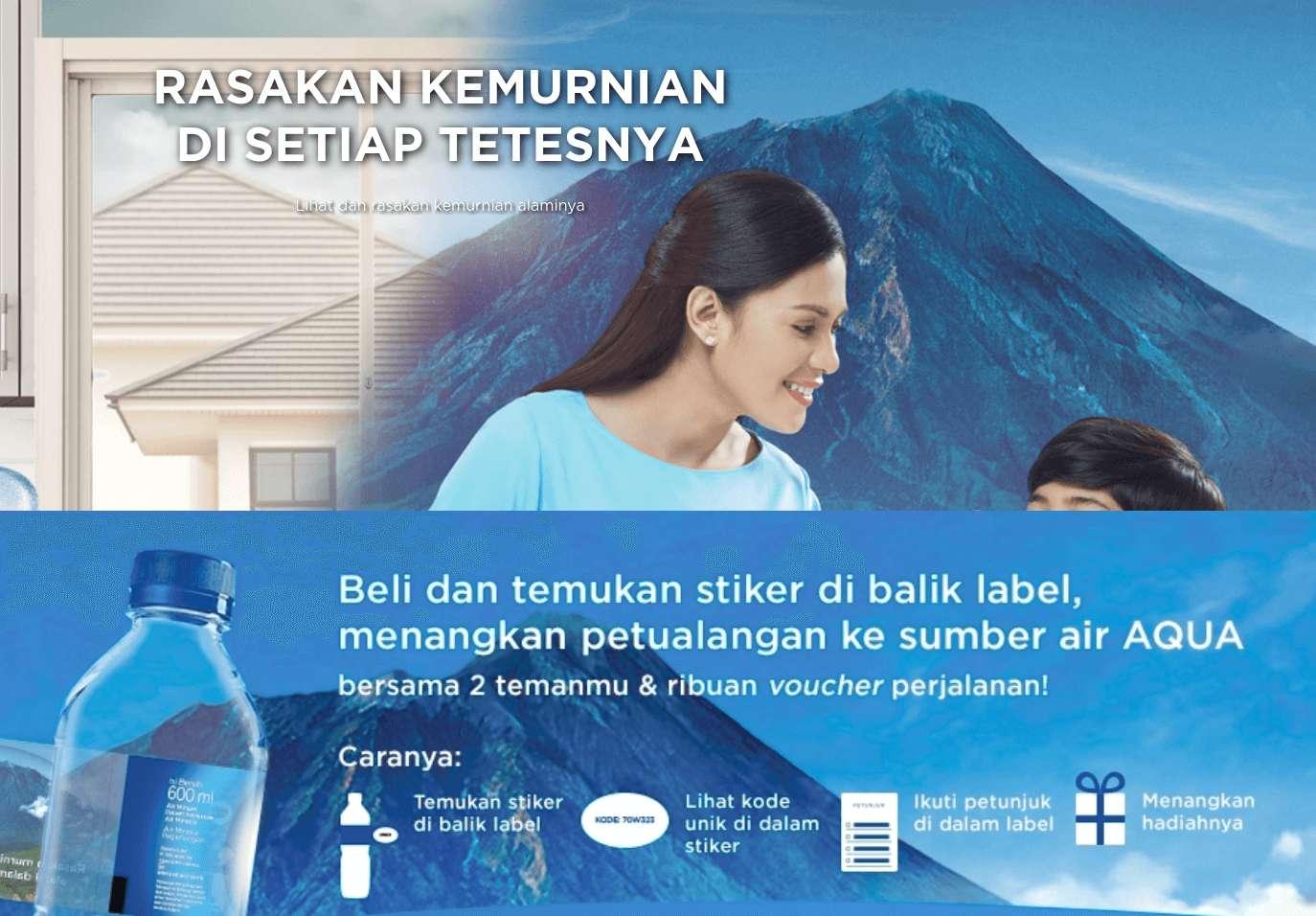 Beli dan Temukan Stiker di Balik Label Aqua dan Menangkan Hadiah Jalan- Jalan ke Sumber Mata Air Aqua