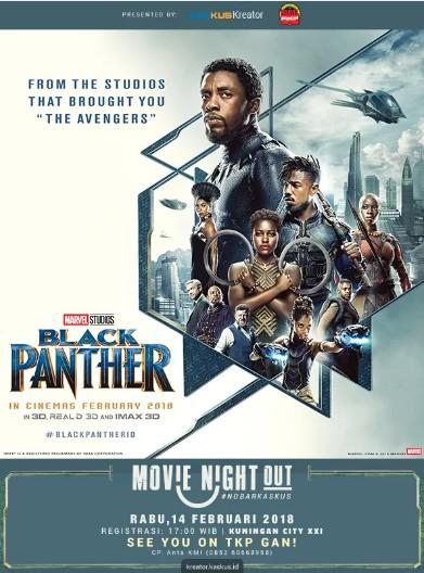 Nonton Gratis Marvel Studios Black Panther untuk Wilayah Jabodetabek dari KASKUS Kreator