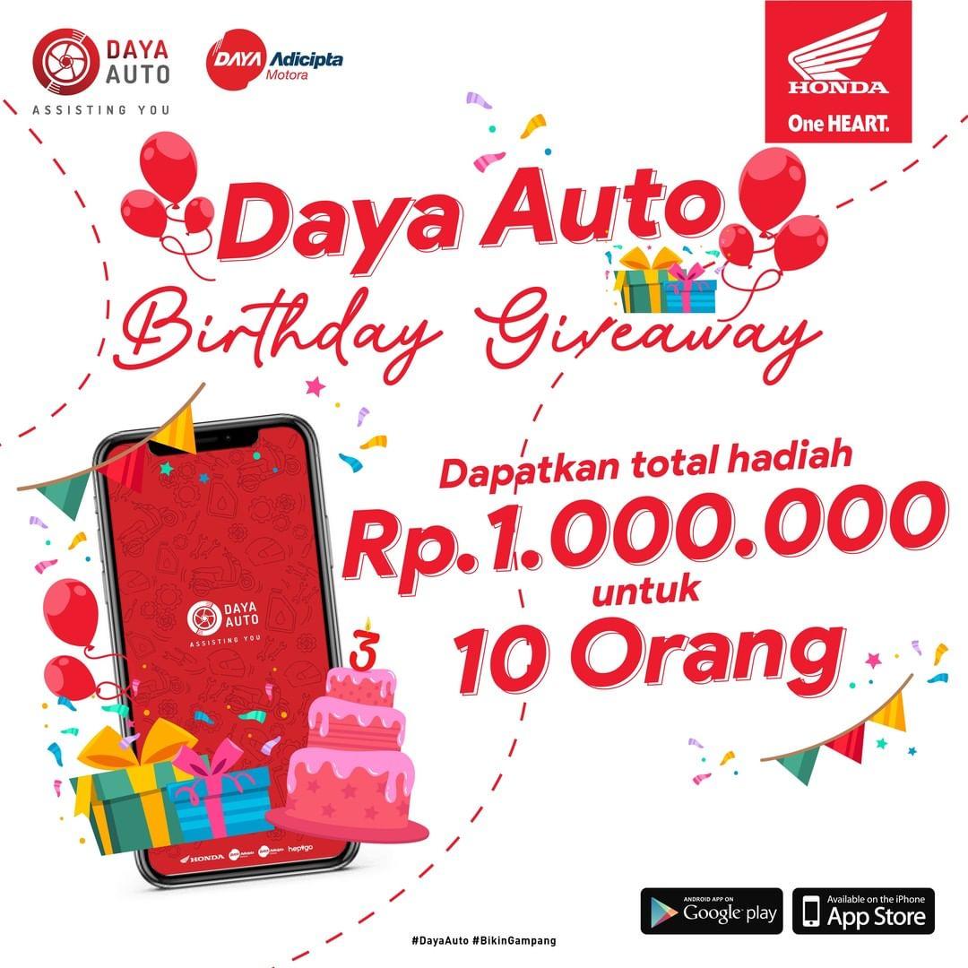 Daya Auto Birthday Giveaway