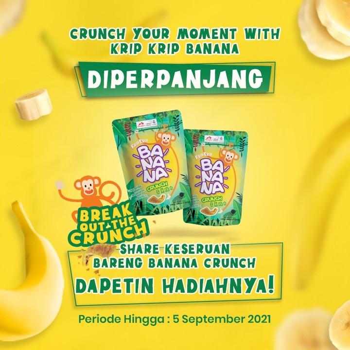Menangkan E-Money Total Jutaan Rupiah dari Crunch Moment With Banana Crunch