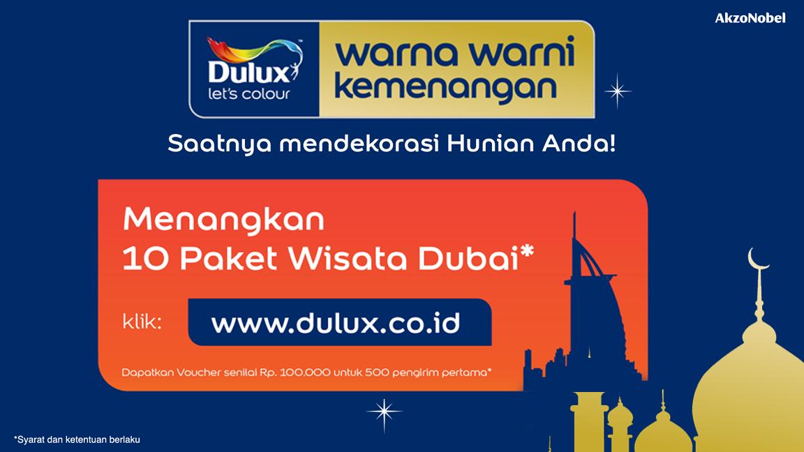 Undian Dulux berhadiah Jalan Jalan ke Dubai