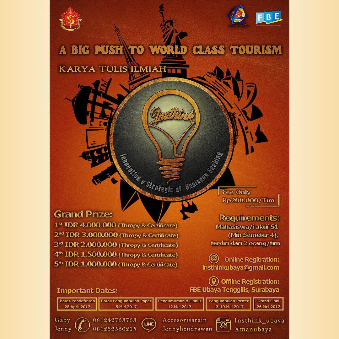 Lomba Karya Tulis Ilmiah Innovative & Strategic of Business Seeking