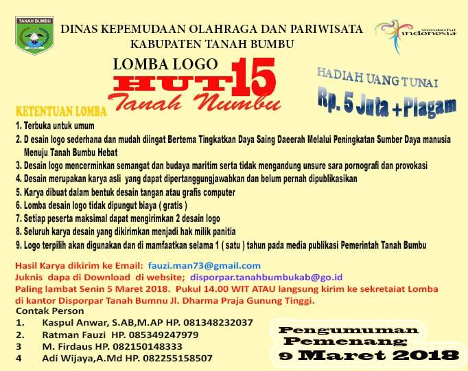 Lomba Logo HUT ke 15 Tanah Bumbu