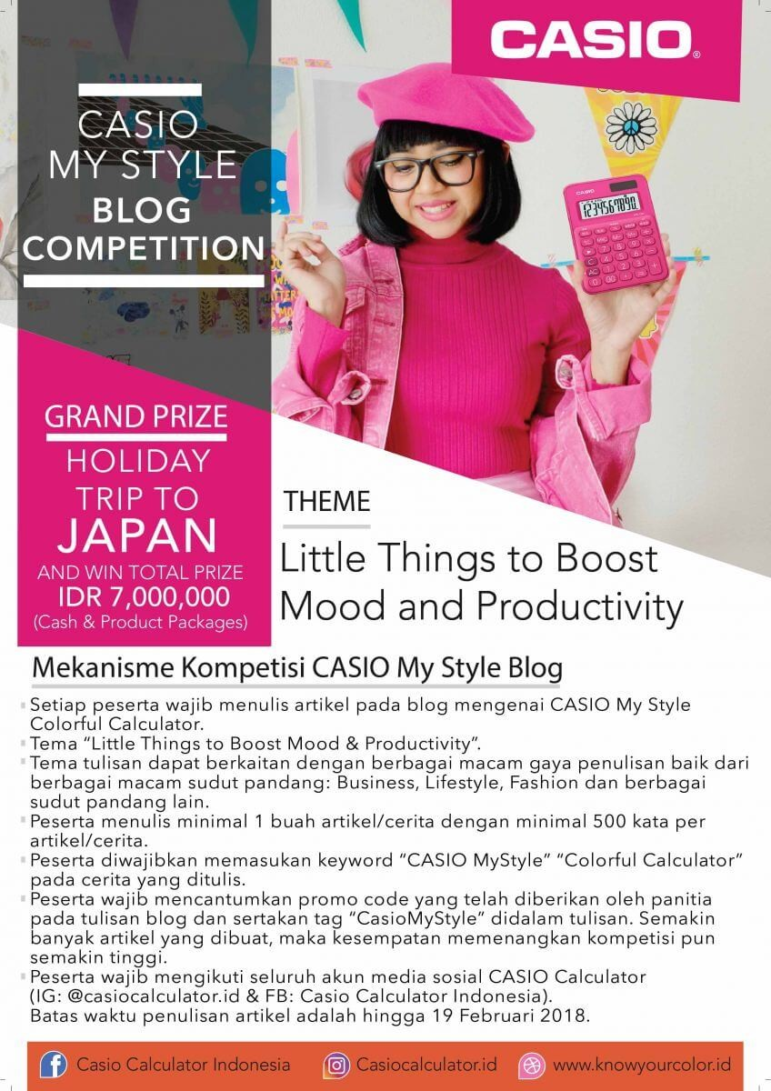 Casio My Style Blog Competition