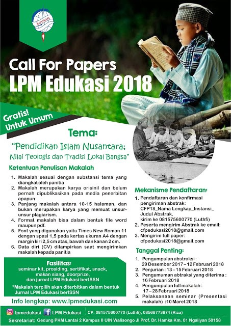 Call For Paper LPM Edukasi 2018